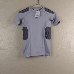 Adidas compression shirt padded boys small